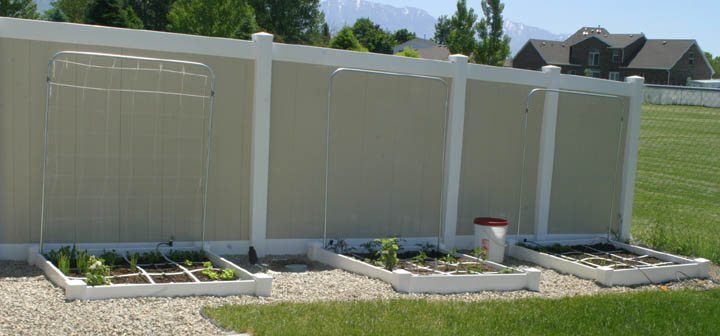 6 inch (single vinyl rail) garden beds