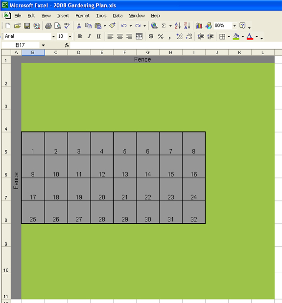 square foot gardening layout sample 3