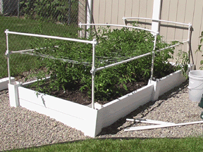 square foot gardening support tomato2