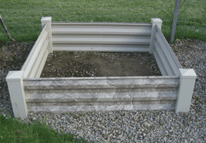 square foot gardening newbox gravel
