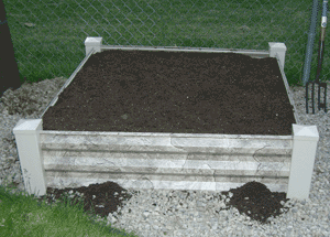 square foot gardening newbox soil