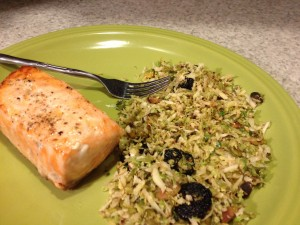 square foot gardening Broiled Salmon with Shredded Brussels Sprouts 11 300x225