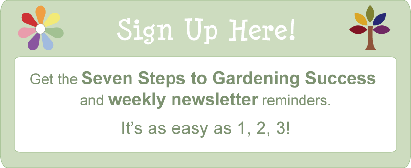 square foot gardening Newsletter signup
