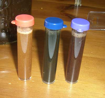 square foot gardening soil test tubes mixed